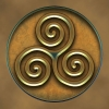 The triskelion. An ancient Celtic symbol. The person I did this for saw this in a barrow (a burial mound) in Ireland and fell in love with it.