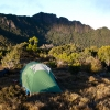 Camp on the ridgeline just south of The Lonely Tarns near Mt Anne.