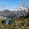 Camp near Mt Fainter. Just north of The Bogong High Plains.