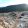 Camp near Hill One on the first night of the Southern Ranges traverse.