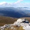 The view looking north from near Hill One on the Southern Ranges Track in Tasmania.
