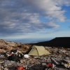 The Southern Ocean from a camp site on the Southern Ranges in South West Tasmania.